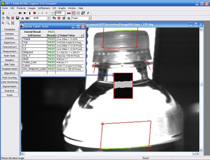Bottle Cap Inspection Software